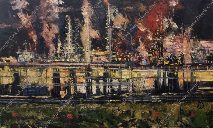 Energy plant Baton Rouge painting by James Pringle Cook