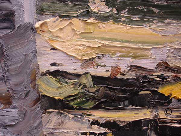 detail of James Pringle Cook oil painting
