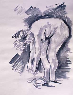 Life Drawing Watercolor #12