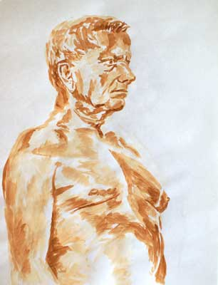 Life Drawing Watercolor #14