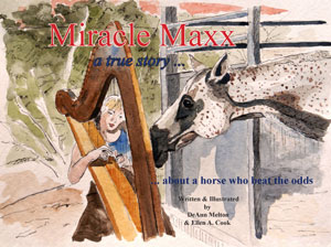 Front Cover-Miracle Maxx children's book by Ellen A. Cook and DeAnn Melton