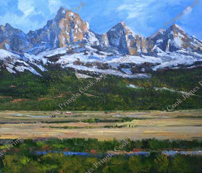 Teton Range from Idaho oil painting by James Pringle Cook